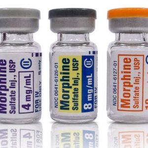 Iniezione di solfato di morfina